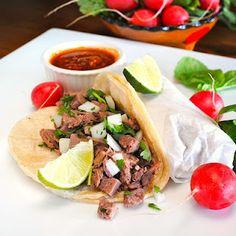 Tacos de lengua or tongue tacos
