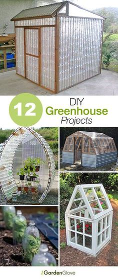 12 Great DIY Greenhouse Projects - interesting plans including a couple by Ana White.