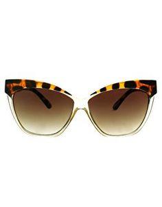 ASOS Cat Eye Sunglasses With Contrast Highbrow at asos.com