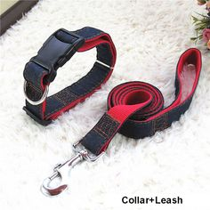 Cheap jeans maternity, Buy Quality jean directly from China jeans zipper Suppliers: Hot Sale Long Fashion Denim & Nylon Rope Dog Leash Black/Red/Blue Jean Puppy Dog Collar/Harness+Leash Sets Pet Products Pet Dogs, Dogs And Puppies, Pets, Pet Puppy, Nylons, Rope Dog Leash, Dog Branding, Dog Safety, Dog Collars & Leashes