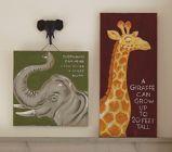 Giraffe wall print. Pottery Barn Kids.
