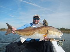 HUGE site-casted redfish by Texas Guide Captain Scott Null while fishing in Louisiana #reellife #letsgetreel www.reellifegear.com