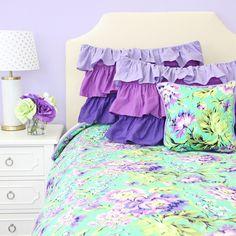 Purple Paige Duvet Cover