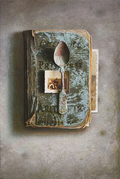 John Whalley    Copper Spoon  Oil on wood panel, 22 x 15 inches