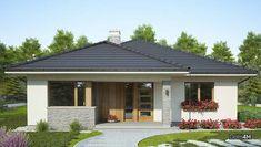 Современный одноэтажный дом с крытой верандой Compact House, Outdoor Living, Outdoor Decor, Exterior Design, My House, Gazebo, House Plans, Sweet Home, Shed