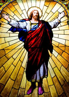Stained Glass Jesus - I could see this going on the top of my tower. ***********