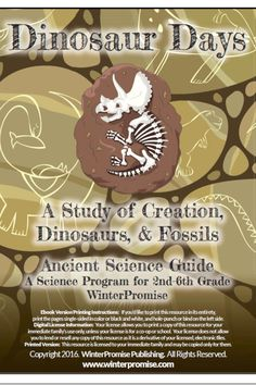 We bring our full-color, engaging, and interactive journaling to our science studies! Dinosaur Days is no exception! Along with great living books you will get an exclusive journal over 200 pages in length that will bring this study to life for your student. See this sample of our guide and the full-color journal!