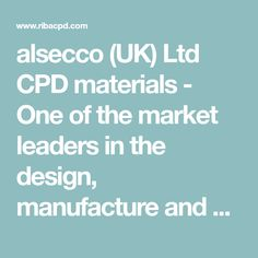 alsecco (UK) Ltd CPD materials - One of the market leaders in the design, manufacture and supply of innovative and creative facades in the UK, alsecco co. Facades, Innovation, Marketing, Creative, Design, Facade, Design Comics