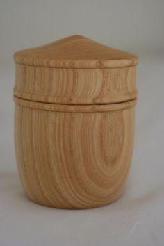 turned cherry wood bowl