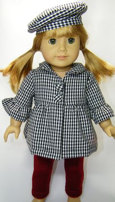 american girl doll idea .....The jacket and hat are made from mccall's pattern 6137 ... I just finished making this jacket in pink corduroy, it turned out really cute.
