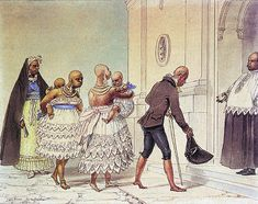 Jovens Negras Indo à Igreja para Serem Batizadas , 1821