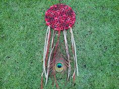 Filtro dos Sonhos Ojibwa em Crochê - Loja Tenda Indie - Joias e Acessórios Artesanais