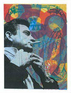 johnny cash art | INSIDE THE ROCK POSTER FRAME BLOG: New Johnny Cash art print by Print ...