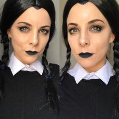 Wednesday Adams Halloween Makeup Look