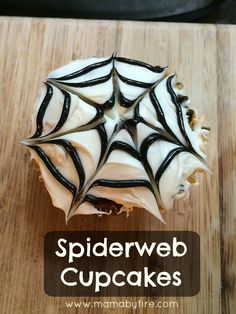 These Spiderweb cupcakes are perfect for a Halloween party, or even for a Spider Man themed birthday party!