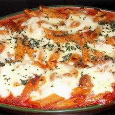 Baked Penne with Italian Sausage Allrecipes.com
