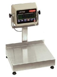 Tor Rey EQB-20/40-W Waterproof Scale. The Tor Rey EQB-20/40-W features stainless steel construction and a hermetically sealed indicator ideal for seafood packers, slaughterhouses, poultry, restaurants, pharmaceutical companies and more #WaterproofScales #USA http://www.scaleforless.com/