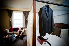 Getting ready in the Honeymoon Suite - The Alexis Hotel, Seattle