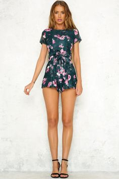 Lot Of That Romper Forest Green