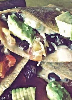 Skinny Black Bean Quesadillas, so delicious!
