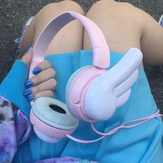 #tech #electronics #aesthetic #pink #blue #angel #wings #headphones #kawaii #cute #kawaiifashion #kawaiiaesthetic #jfashion #harajukufashion #可愛い #パステル #pastel #pastelaesthetic #fashion