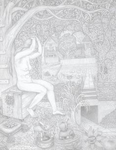 The Archway in the Hedge #pencildrawing #surreal #fantasy