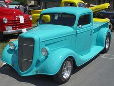 Ford Pickup | 1935 Ford Pickup - Aqua - Side Angle - 1152x864 Wallpaper