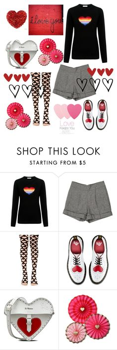 """""""LOVE- KEEPS YOU ALIVE"""" by julie-bates-eckert ❤ liked on Polyvore featuring Bella Freud, Alice + Olivia, Leg Avenue and Dr. Martens"""