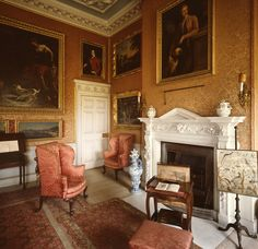 Sitting Room Fireplace, Petworth House, West Sussex, England