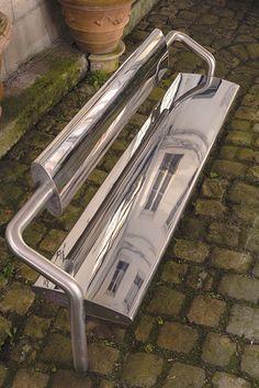 Jardins en Art Le banc I Miroir de Cécile Planchais - Jardins en Art
