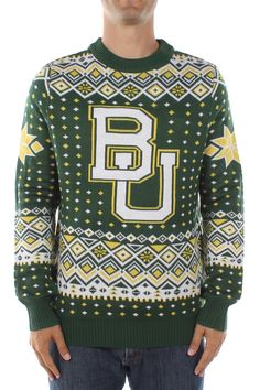Baylor BU ugly Christmas sweater
