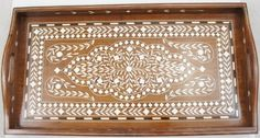 Handcrafted Wooden Tray 15 Inches X 8 Inches with Beautiful Acrylic Inlay Work - A Perfect Gift Item The Modish Store,http://www.amazon.com/dp/B00AP7VX0O/ref=cm_sw_r_pi_dp_ZubMsb1J17SX7XBS