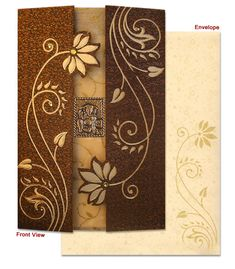 Complete view of the Indian Wedding Invitation