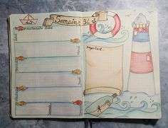 Ma semaine 34 dans mon #bulletjournal ... #bujo #bulletjournallove #bulletjournaling #bulletaddict #bujofr #semaine #août #organisation # thème #intemporellecreation #unipin #planner #polychromos #dessin #illustration #leuchtturm1917 #leuchtturm