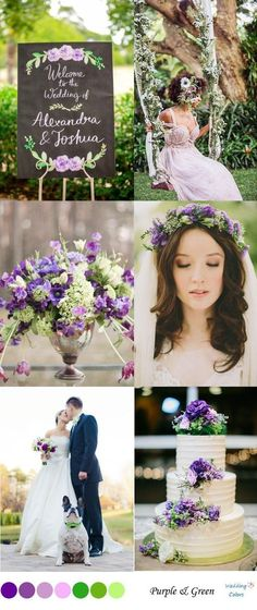 Green & Purple Wedding Color Inspiration Best Picture For spring wedding cake simple For Your Taste You are looking for something, and it is going to tell you exactly what you are looking for, and you Purple And Green Wedding, Purple Wedding Cakes, Spring Wedding Colors, Wedding Flowers, Lavender Green, Spring Weddings, Spring Colors, Lavender Ideas, Wedding Bouquets