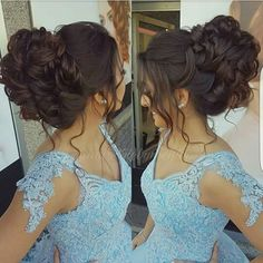 Gorgeous Chignon Wedding Hairstyle Tutorial Hair Tutorials is part of Quinceanera hairstyles - Wedding hair style Quince Hairstyles, Fancy Hairstyles, Ponytail Hairstyles, Bride Hairstyles, Ponytail Updo, Sweet 16 Hairstyles, Low Chignon, Updo Hairstyle, Braided Updo