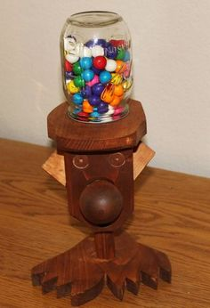 Charming This Fully Functional Gumball Machine Was Jacobu0027s First Effort In Wood Shop Amazing Design