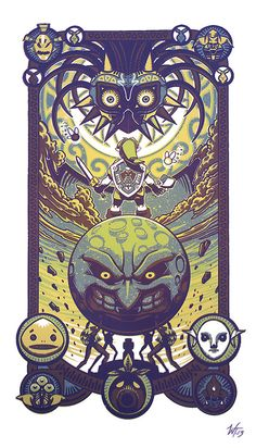 myrtletoearth:  Majora's Mask by Wes Talbott