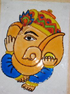 colored ganesh line painting - Google Search