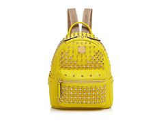 Mcm Stark Special Mini Backpack in Yellow | Lyst