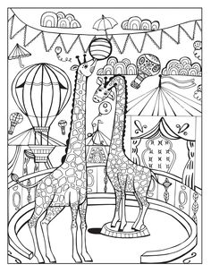 A Day at the Circus coloring page on Behance | Luv to Color ...