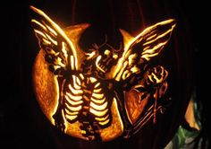 I call this one Immortal Beloved, carved on a faux pumpkin from Micheal's with dremel drill