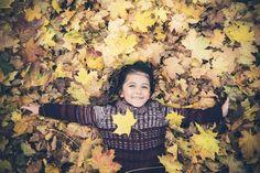 autumn leaves boy
