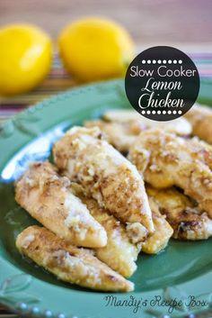 Slow Cooker Lemon Chicken on MyRecipeMagic.com