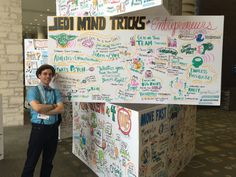 Joshua jL Mitchell, Founder & CEO of jeniusLogic LLC, took this photo of me in front of one of my boards from sxswi. I was sitting at the ImageThink table and he introduced himself and mentioned how much he loved the Nicole Glaros Jedi Mind Tricks Imagethink SXSWI board, I told him it was mine and he fist bumped me and said he thought he missed his chance to meet the artist.
