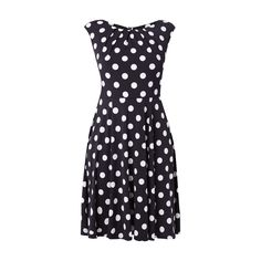 #Swing #Damen #Cocktailkleid mit #Polka #Dots - Damen Cocktailkleid von Swing…