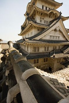 "Himeji Castle, Hyogo Prefecture, Japan. This is one of the few castles that is an ""original."" Many Japanese castles were bombed out during WWII and rebuilt afterwards."