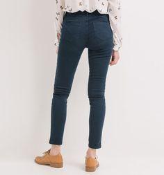 Spodnie damskie skinny niebieski - Promod