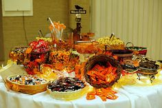 Leafy Tree Tops: Fall/Autumn themed candy buffet- the sequel