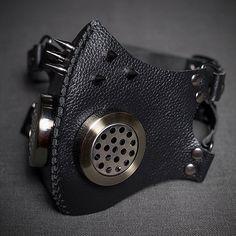 Mask Respirator Gas Mask Leather Cybergoth by SteampunkHatMaker